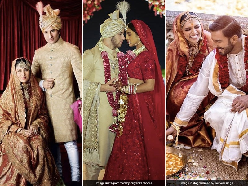 A Decade Of Showbiz Weddings: Kareena-Saif To Priyanka-Nick. See Pics