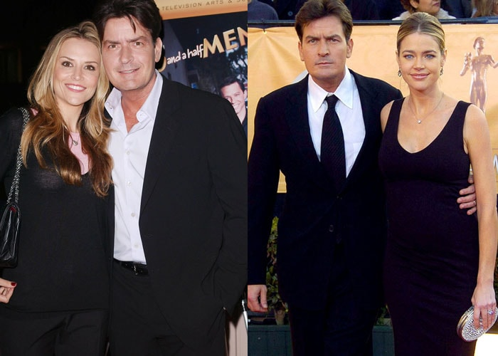 Charlie Sheen celebrates birthday with ex-wives