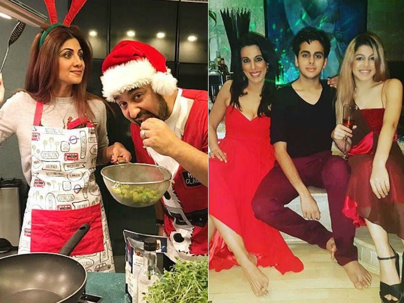 Shilpa Shetty And Pooja Bedi's Christmas Parties Look So Much Fun