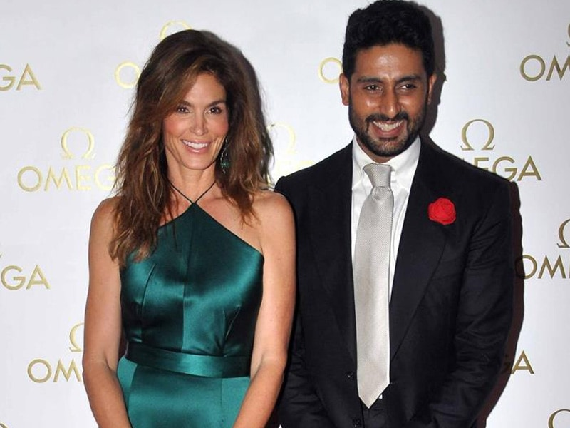 Hollywood Bollywood: Abhishek Bachchan Poses With Cindy Crawford