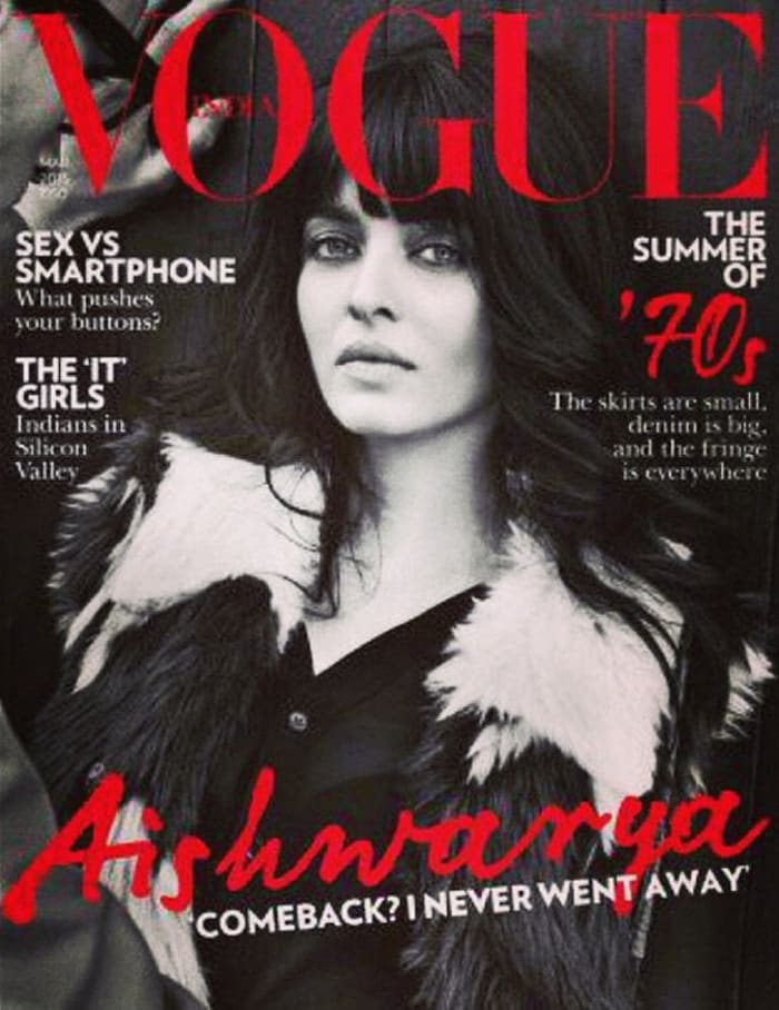 Aishwarya Rai Returns in Vogue