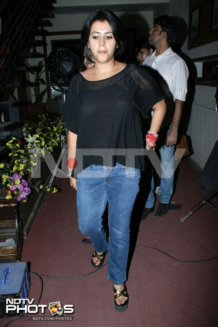 Ekta Kapoor at muhurat of Dark Rainbow