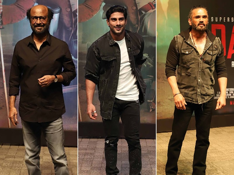 Rajinikanth Launches Darbar Trailer With Suniel Shetty And Prateik Babbar