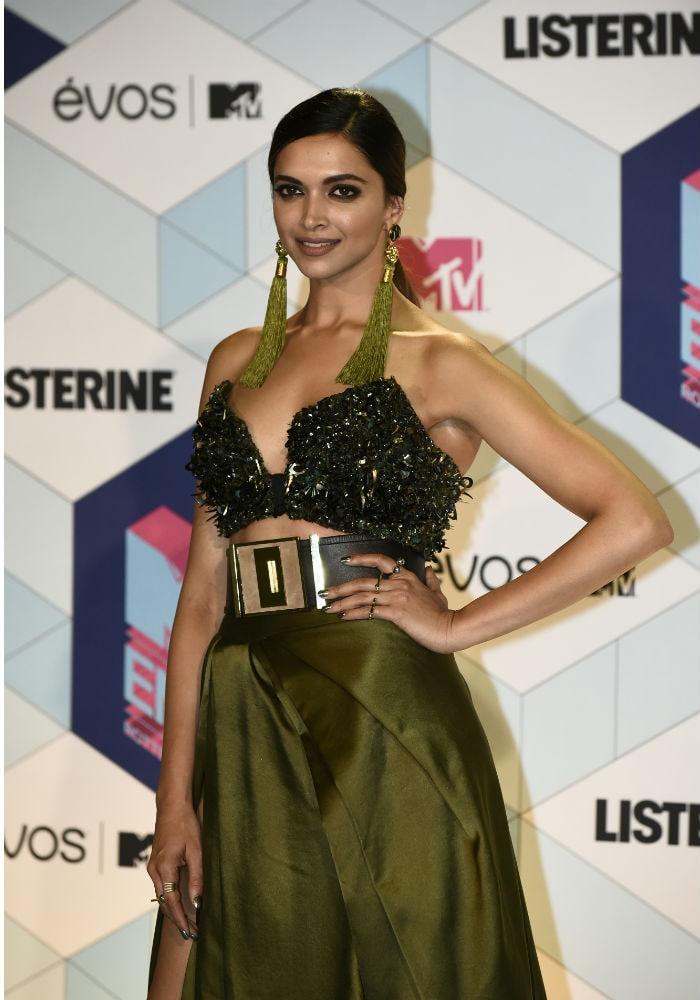 Deepika Padukone Slays Red Carpet At MTV EMAs