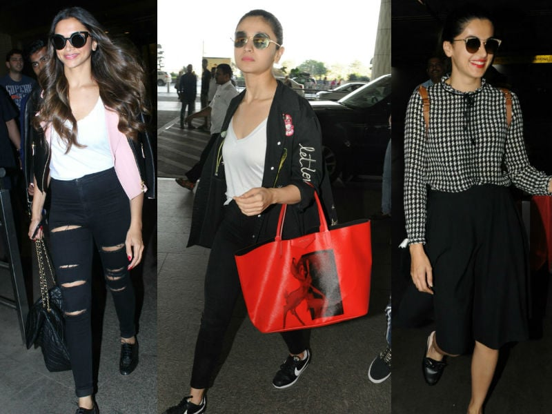 Deepika Padukone, Alia Bhatt And Taapsee Are Co-Ordinated At The Airport