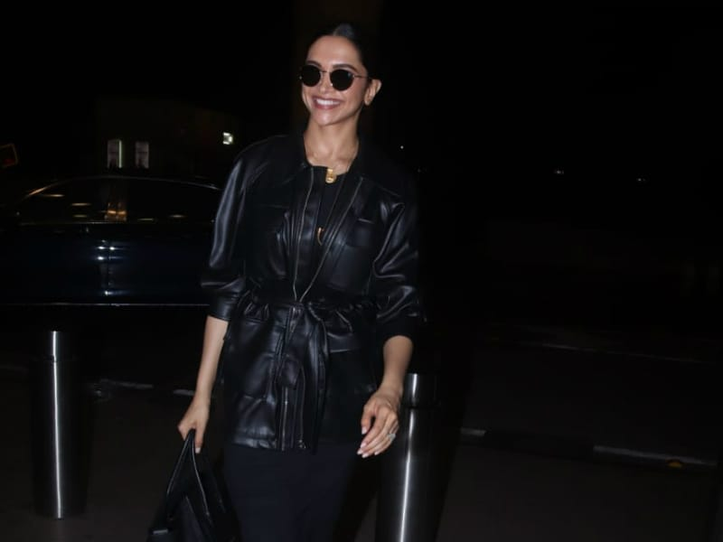 Black Beauty Deepika Padukone Jets Off To London