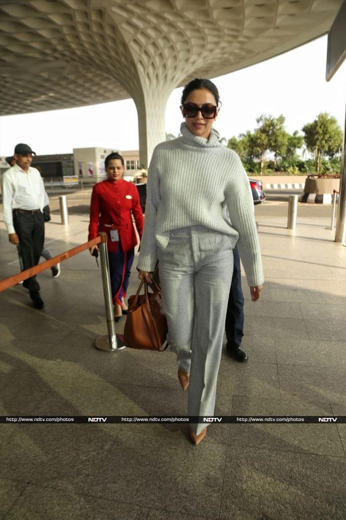 दीपिका पादुकोण और जैकलीन फर्नांडिस एयरपोर्ट पर इस अंदाज़ में दिखीं