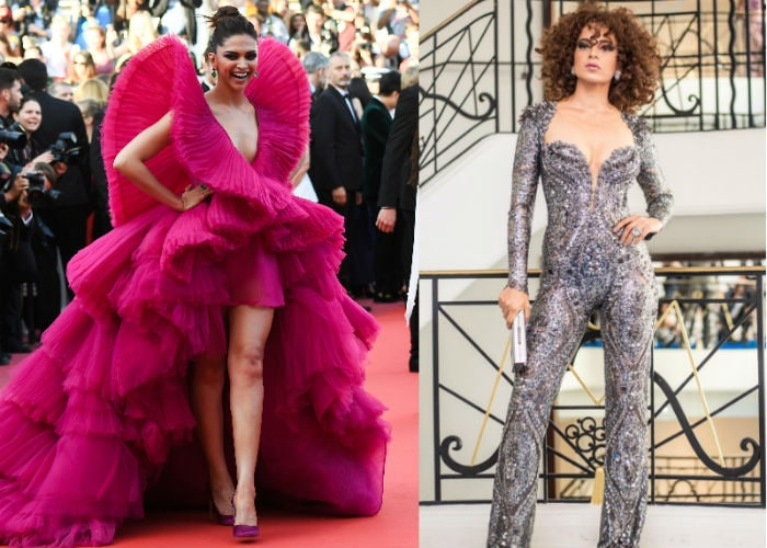 Cannes Face-Off: Deepika\'s Fiery Red Or Kangana\'s Edgy Catsuit?