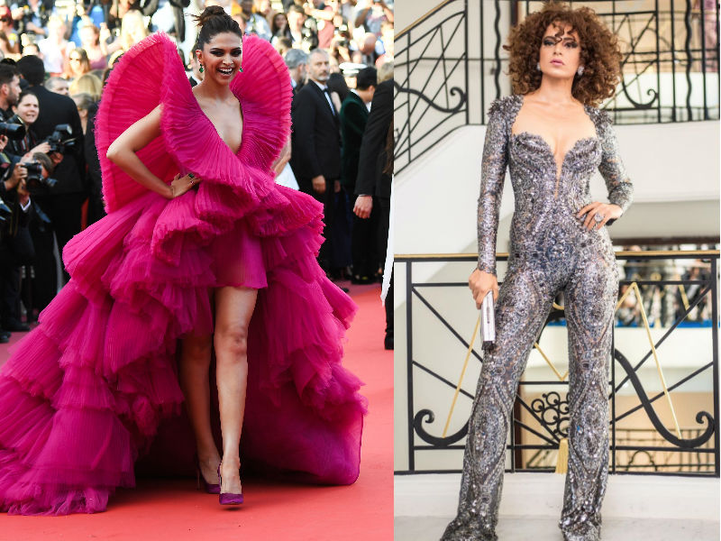 Cannes Face-Off: Deepika's Fiery Red Or Kangana's Edgy Catsuit?