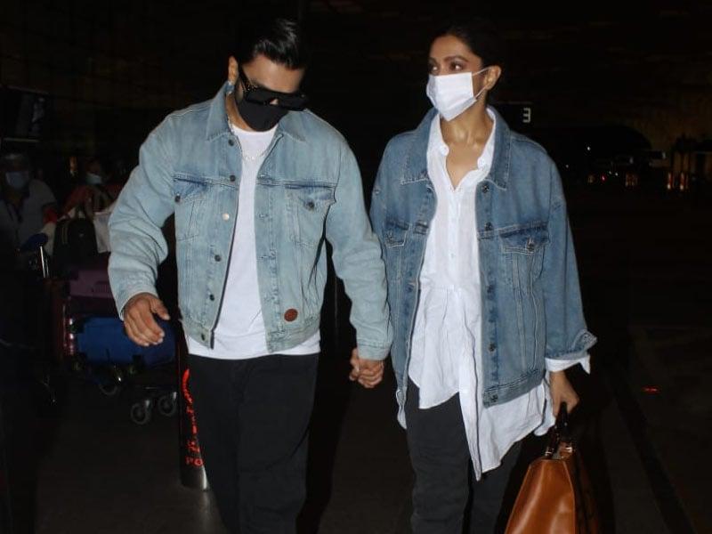 Photo : Twinning And Winning, Deepika Padukone And Ranveer Singh Fly Out Of Mumbai