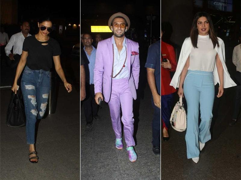 Star Spotting: Deepika, Ranveer, Priyanka