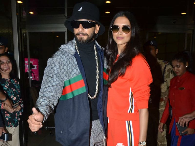 Ranveer Singh And Deepika Padukone Set Airport Style Goals