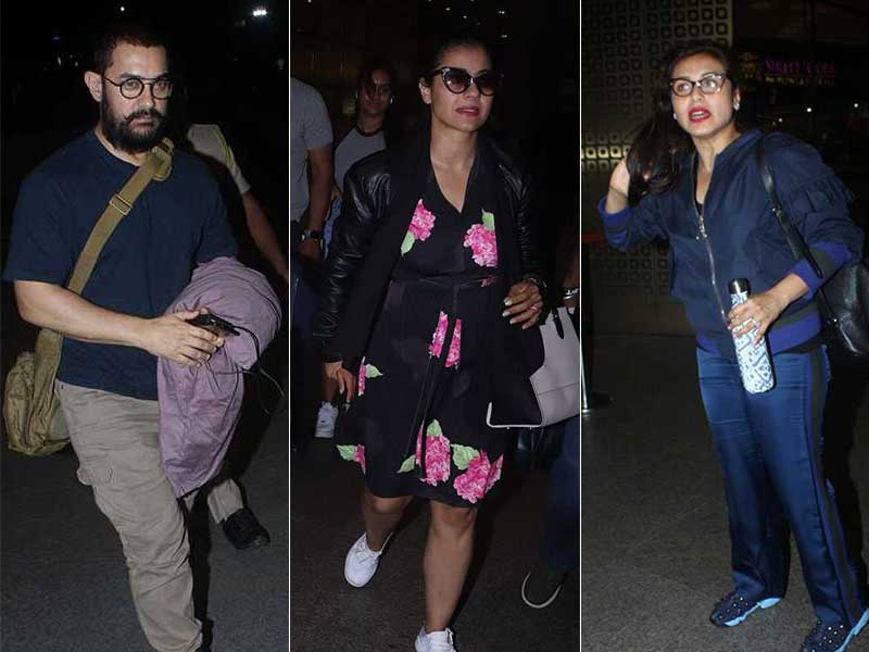 Devgns, Rani, Aamir And Others Made Mumbai Airport A Star-Studded Affair