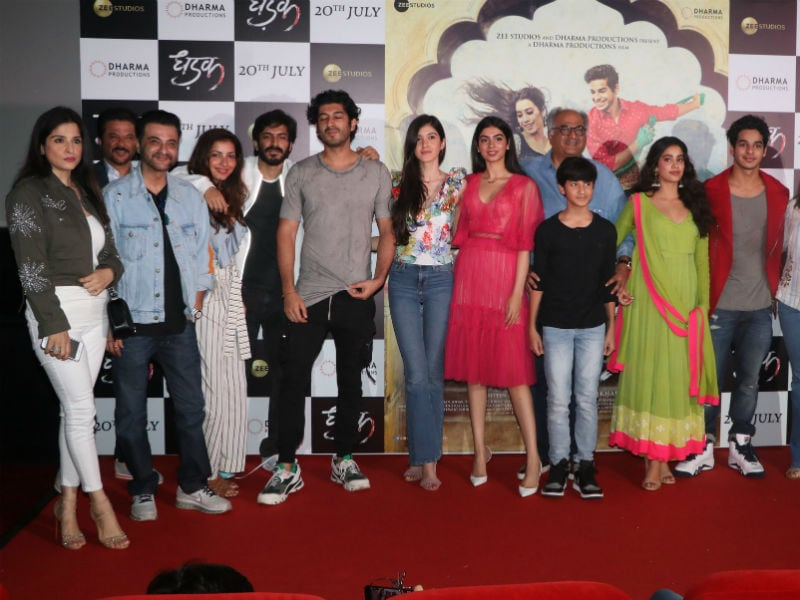 At Janhvi And Ishaan's Dhadak Trailer Launch, A Mini-Kapoor Famjam