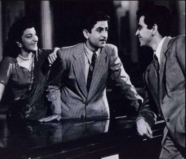 Dilip saab\'s performance in Andaz (1949), opposite the equally legendary Raj Kapoor, earned him critical acclaim as well as box-office success. With Raj Kapoor and Dev Anand, he formed one-third of the trinity that ruled Indian cinema, just emerging from the shadow of British rule, for two decades.
