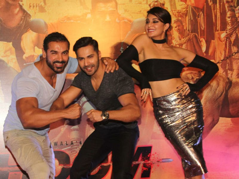 Varun, Jacqueline and John and Dishoom, Dishoom
