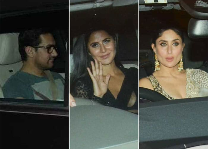 Aamir, Kareena And Katrina Lead Celeb Roll Call At SRK's Diwali Party