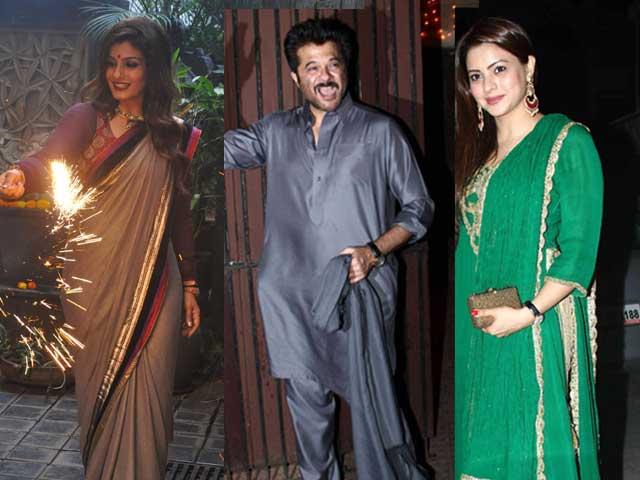 Photo : Delightful Diwali: Raveena, Anil, Aamna