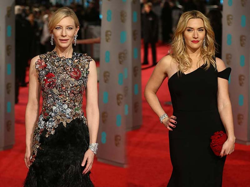 Fashion Alert: Cate Blanchett, Kate Winslet on BAFTA Red Carpet