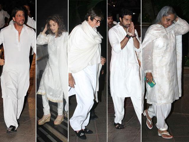 Photo : SRK, Madhuri, Bachchans at prayer meet for Juhi's brother