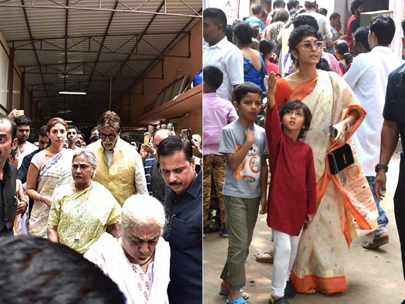 The Bachchans, Kiran Rao And Son Azad Celebrate Durga Puja