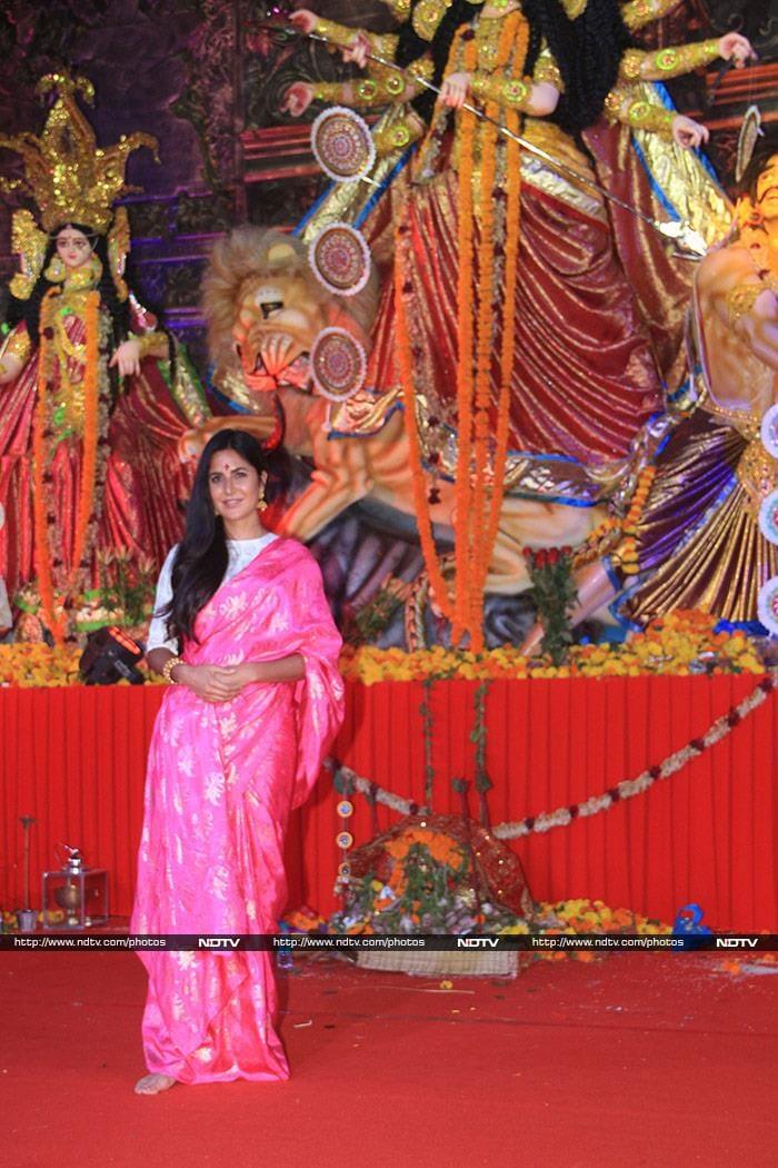 Katrina Kaif, Mouni Roy Celebrate Durga Puja In Their Festive Best