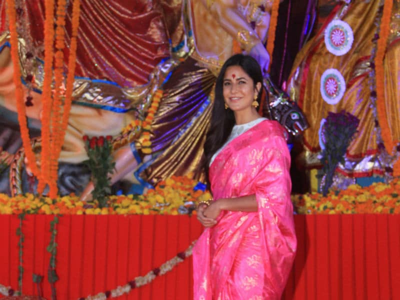 Katrina Kaif, Mouni Roy Celebrate Durga Puja In Their Festive Best