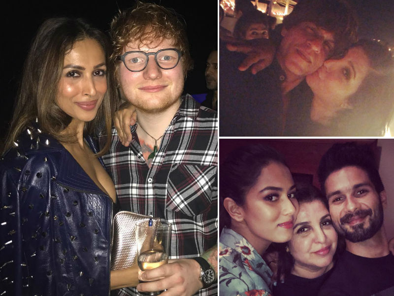 24 Rocking Pics From Farah Khan's Party Ed Sheeran