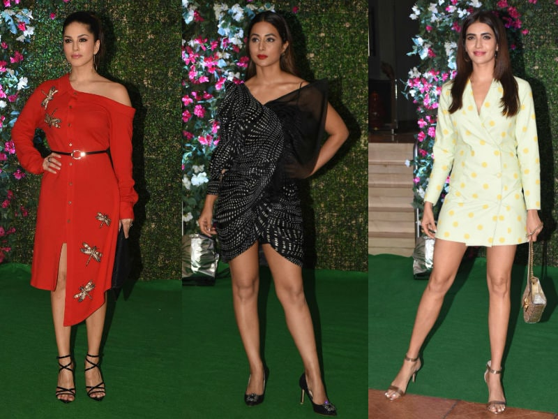 Sunny Leone, Hina Khan, Karishma Tanna And Others Set The Party Mood With Ekta Kapoor