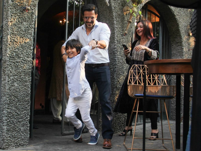 Emraan Hashmi And Son Were The Cutest Duo At Sakshi Bhatt's Engagement