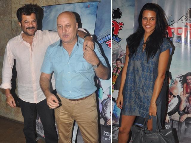 Anil Kapoor, Anupam Kher, Neha Dhupia Give Ekkees Toppon Ki Salaami