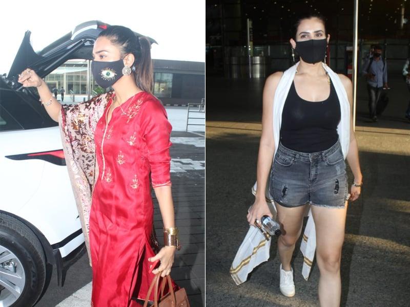 Photo : एरिका फर्नांडिस और सोननल्ली सेयगल को एयरपोर्ट पर किया गया स्पॉट