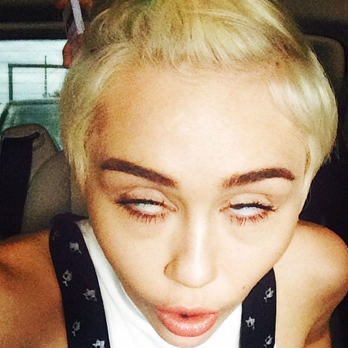 5 Weirdest Faces Miley Cyrus Has Made on Instagram