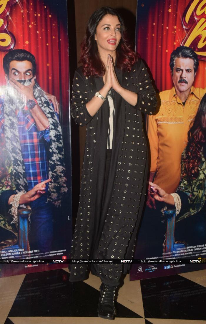 ऐश्वर्या राय और अनिल कपूर ने देखी फिल्म 'फन्ने खां'...