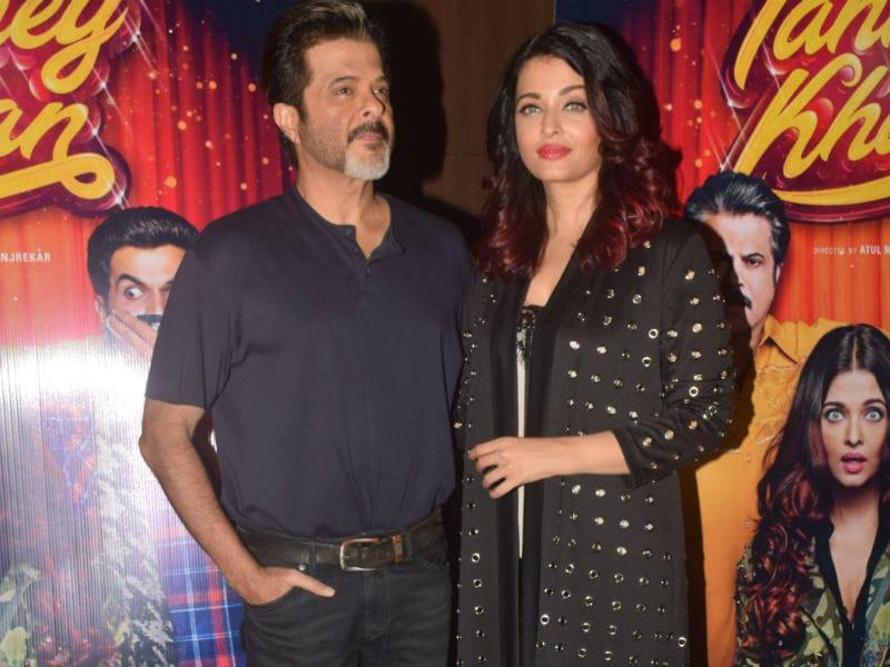 Aishwarya And Anil Kapoor Watch Fanney Khan Minus Rajkummar