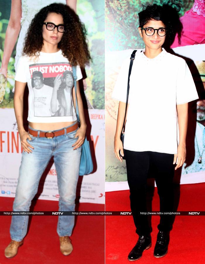 Curls On Prowl: Kangana Ranaut, Kiran Rao\'s Movie Night Out