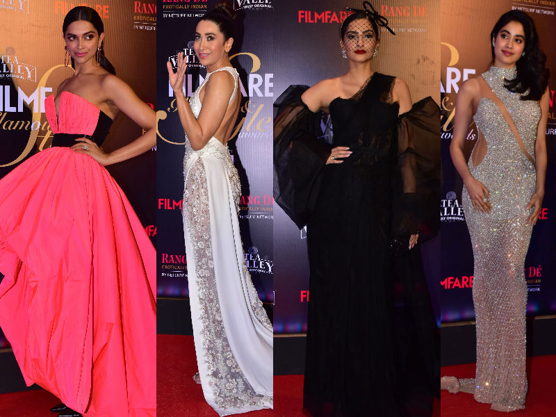 Deepika, Sonam, Karisma, Janhvi Bring Their A-Game To Filmfare's Glamour Night
