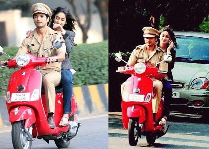 Ileana rides pillion with Shahid
