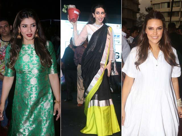 Photo : आखिर किस संदेश के लिए इकट्ठा हुए नेहा, रवीना टंडन समेत ये बॉलीवुड सितारे...