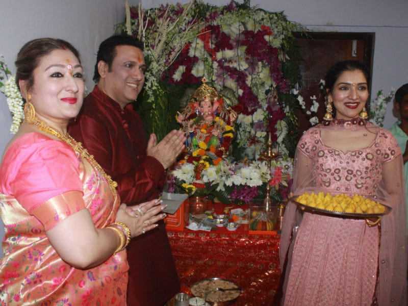 Inside Govinda And Jeetendra's Ganesh Chaturthi Celebrations