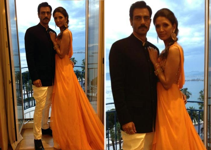 Arjun, Mehr make a stylish couple at Cannes