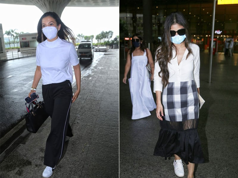 Photo : Gauahar Khan And Mouni Roy's Steal-Worthy Airport Looks