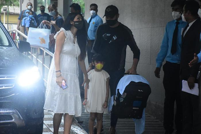 Geeta Basra And Harbhajan Singh Take Baby Boy Home