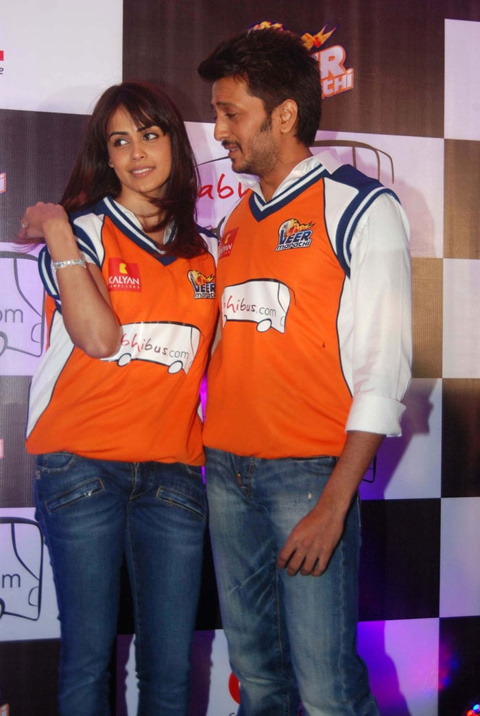 Bowled over by Genelia, Riteish?