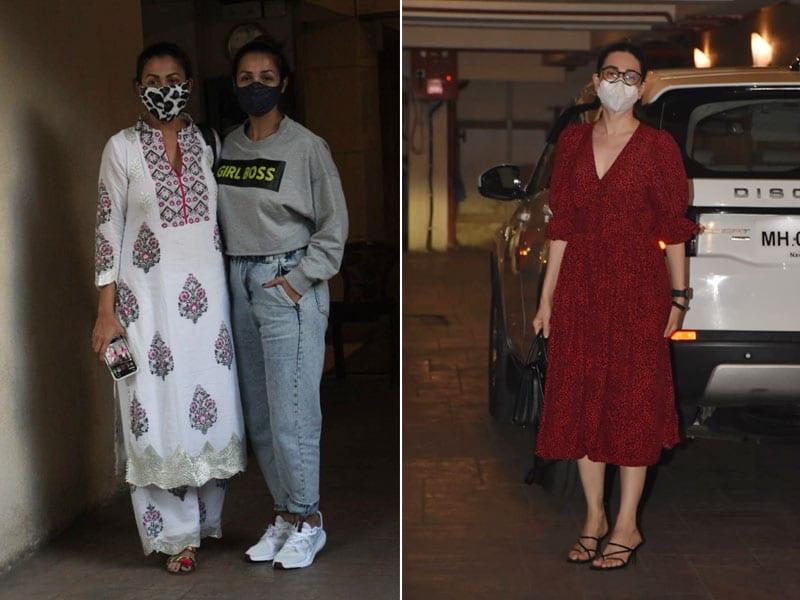 Photo : करिशमा, मलाइका और अमृता शानदार लुक्स में आईं नजर, देखें तस्वीरें..