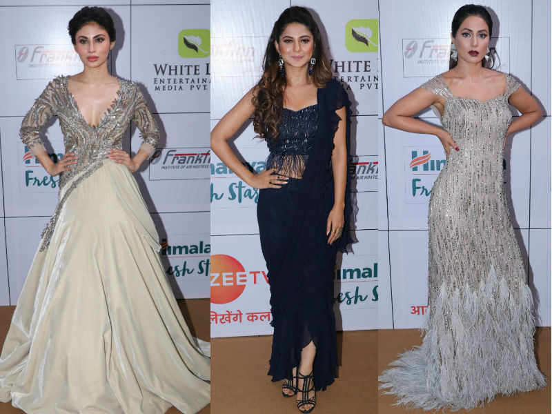 Mouni Roy, Jennifer Winget, Hina Khan On Fashion's Gold Circuit