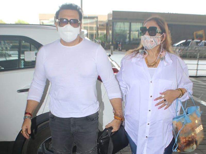 Photo : मुंबई एयरपोर्ट पर स्पॉट किए गए गोविंदा
