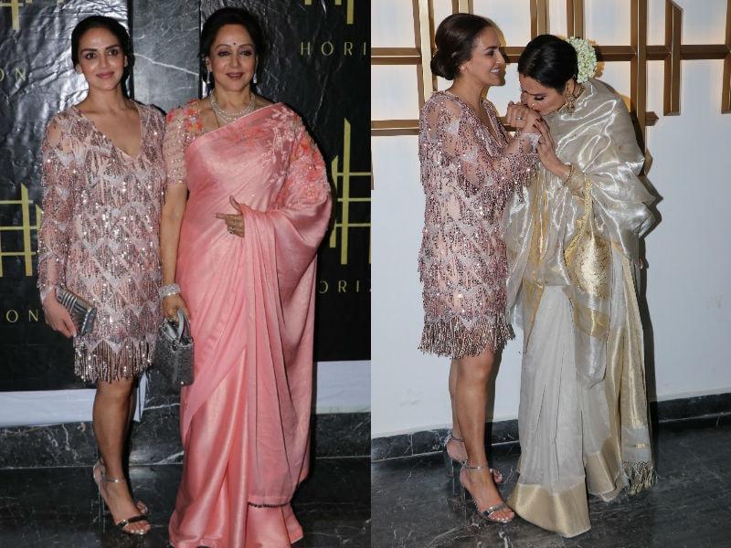 Esha, Rekha And Ahana Celebrate Hema Malini's 70th Birthday