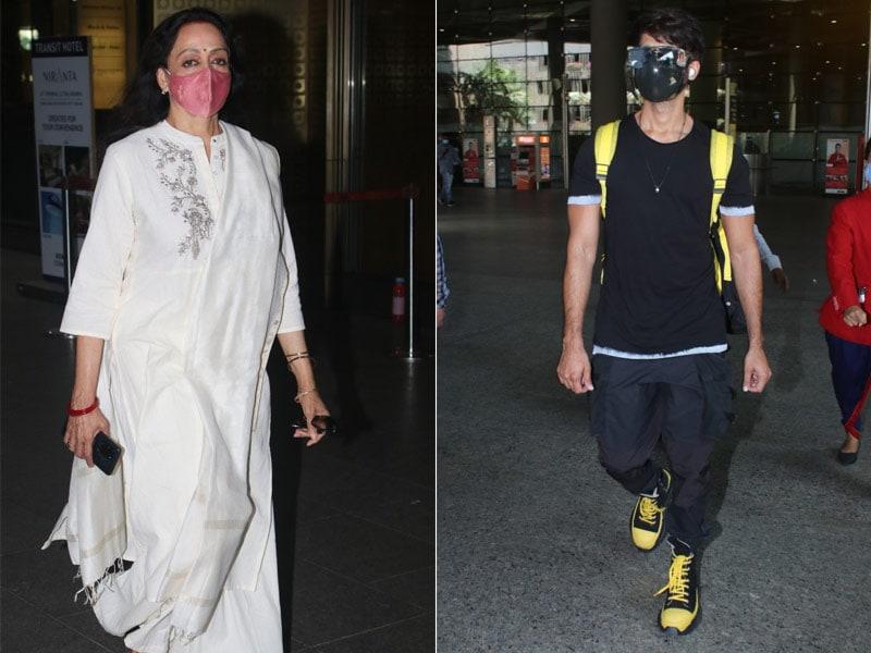 Photo : एयरपोर्ट पर दिखा हेमा मालिनी और शाहिद कपूर का कूल-कूल अंदाज