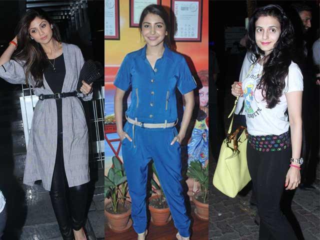 Dinner and Dance: Shilpa, Anushka, Ameesha